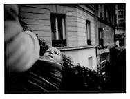 18..Magrebi baby swaddled by mother near Sacre Coeur Cathedral.