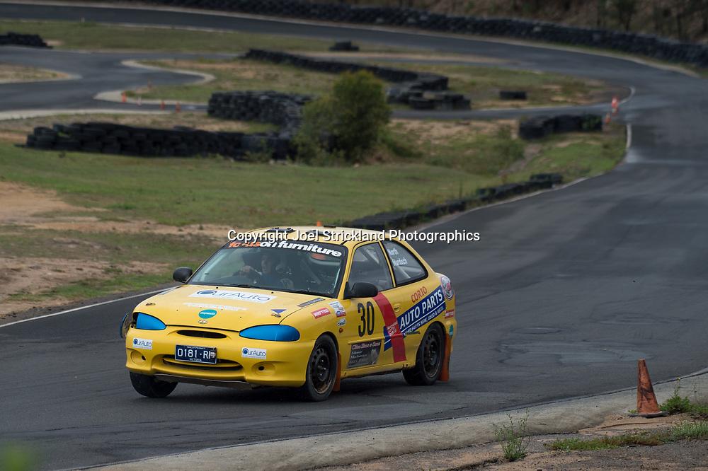 Ross Murdoch - Hyundai Excel - Rallycross Australia - Rnd 1 - February 26th 2017. MARULAN DIRT & TAR CIRCUITS, MARULAN, NSW