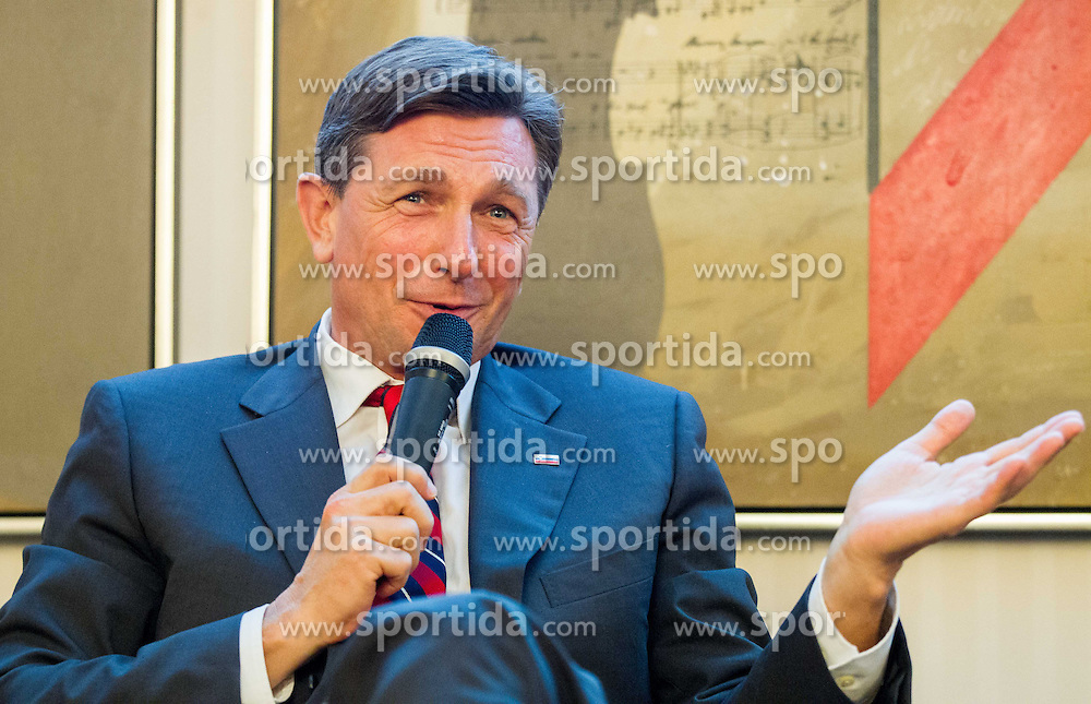 Borut Pahor, president of Slovenia during visit of Sergey Bubka in Slovenia and his meeting with young athletes on November 8, 2013 in Grand Hotel Toplice, Bled, Slovenia. Photo by Vid Ponikvar / Sportida