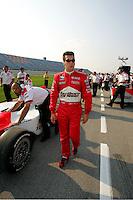 Sam Hornish Jr. at the Chicagoland Speedway, September 11, 2005