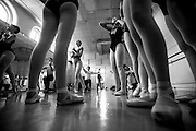 """Dancers take turns practicing partnering before auditions for principal roles for the Central Ohio Youth Ballet's (CYOB) production of """"The Nutcracker."""" 8/16/14"""