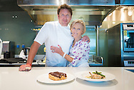 Mary Berry and James Martin in the Cookery Club aboard Britannia.<br /> Picture date: Tuesday July 7, 2015.<br /> Photograph by Christopher Ison &copy;<br /> 07544044177<br /> chris@christopherison.com<br /> www.christopherison.com