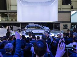 World premiere of new Land Rover Velar luxury SUV on launch day at Geneva International Motor Show 2017