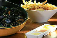 Moule and frite at Robert Widmeier's Brassiere Beck.