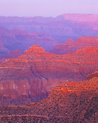 0107-1098 ~ Copyright:  George H. H. Huey ~ View of O'Neil Butte at the Grand Canyon at sunset.  Grand Canyon National Park, Arizona.