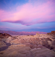 Scenic Zabriskie Point landscape at sunrise - Death Valley National Park, California