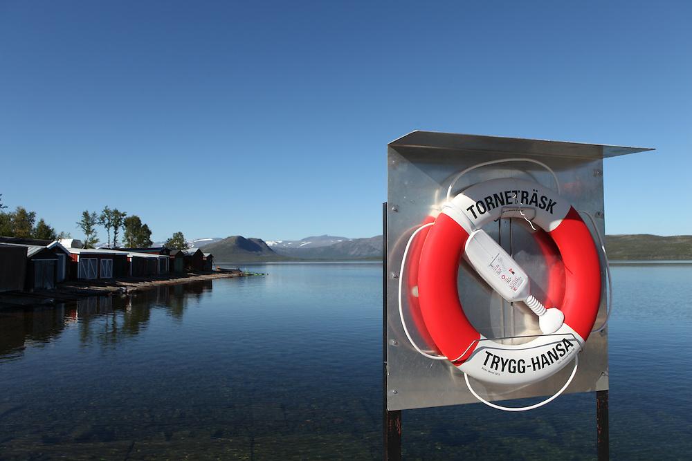 Tornetrask lake near Kiruna, Sweden, Lapland