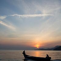 a fishing boat at sunrise, Teluk Bahang, Penang, Malaysia