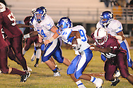 Water Valley's Elijah Rogers (9) runs vs. J.Z. George on Friday, September 23, 2011.