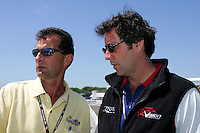 Barry Green and Tony George at St. Petersburg, Honda Grand Prix of St. Petersburg, April 3, 2005