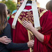 Bishop Thomas Anthony Daly oversees Mass of the Holy Spirit. (Photo by Gonzaga University)