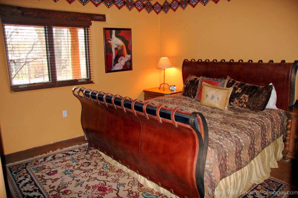 North America, United States, New Mexico, Taos. The Argentina Suite at El Monte Sagrado eco-resort.