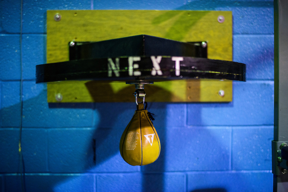 Baltimore, Maryland - January 26, 2017: A speed bag at the Upton Boxing Club in Baltimore.<br /> <br /> <br /> CREDIT: Matt Roth for The New York Times<br /> Assignment ID: