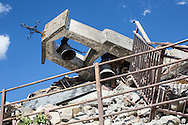 A destroyed bell tower in Casale few kilometers from Amatrice. A 6,4 earthquake has hit central Italy during the night between the 23 and 24 August killing more than 100. The town of Amatrice is been heavily damaged.