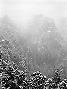 Tiger's nest in the first snow storm of the year.