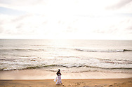 on the beach at Galle Face Green, Colombo