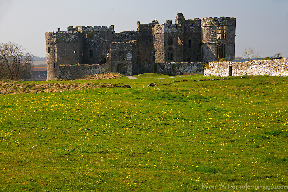 Europe, United Kingdom, Wales, Carew. the Carew Castle.