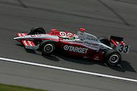 Ryan Briscoe at the Kansas Speedway, Kansas Indy 300, July 3, 2005