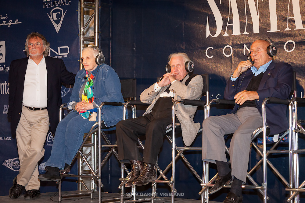 Legends of Racing onstage during Planes and Cars at the Santa Fe Airport, 2013 Santa Fe Concorso.