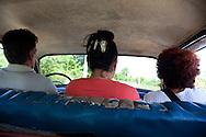 Driving to Vista Alegre near Unas, Holguin, Cuba.