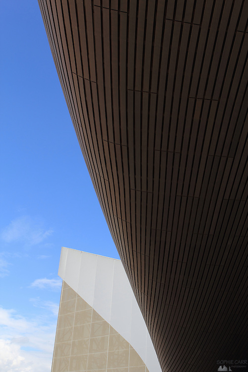 Detail from the Olympic Swimming Building in London's Olympic Park