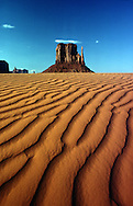 Sand and Butte, Navajo Nation,   1977 Cibachrome print  13x19 edition of 2  print $400. framed $550