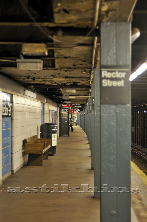 Subway Platform in New York City.