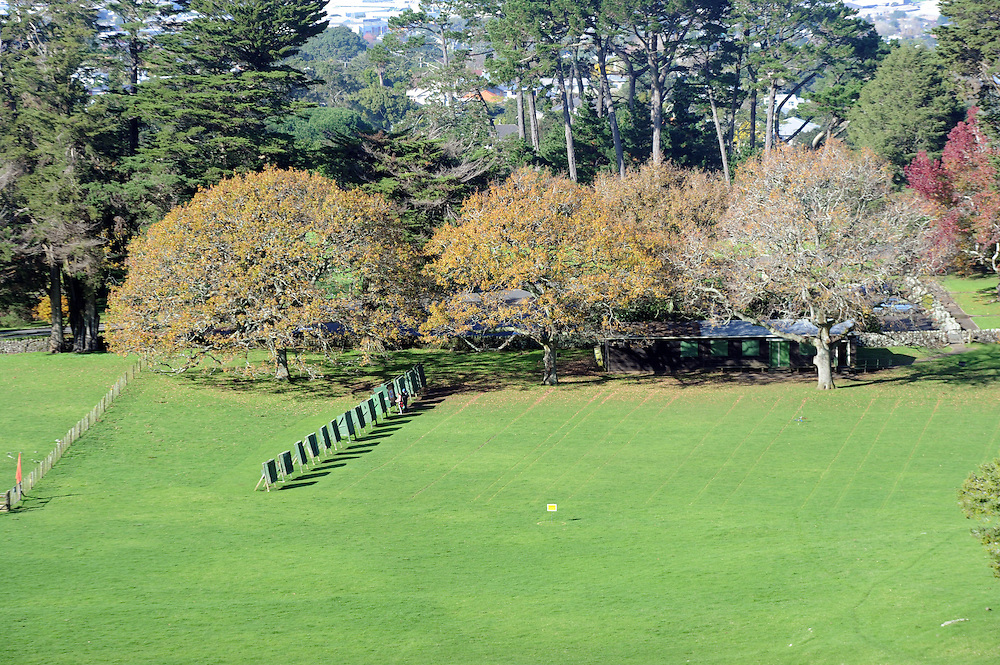 Archery range, Cornwall Park, Auckland, New Zealand, Monday, June 10, 2013. Credit:SNPA / Ross Setford