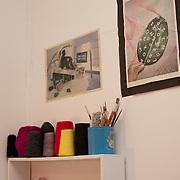 Designer Kristine Guico in her studio, Fireproof, Bushwick Brooklyn