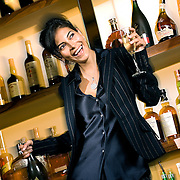 "SHOT 6/4/2007 - ""Working Girl"" fashion shoot for Shine Magazine with Heather Knapp of Donna Baldwin at The Corner Office restaurant and bar at The Curtis hotel in Denver, Co..(Photo by Marc Piscotty / © 2007)"