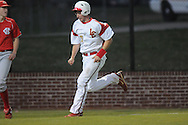 Lafayette High's John Jeffrey Nelson scores on Dylan Gossett's three-run double vs. Center Hill in high school baseball action in Oxford, Miss. on Tuesday, April 5, 2011. Lafayette High won 3-2.