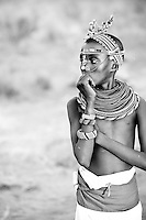 Local boy in traditional dress, Samburu, Kenya