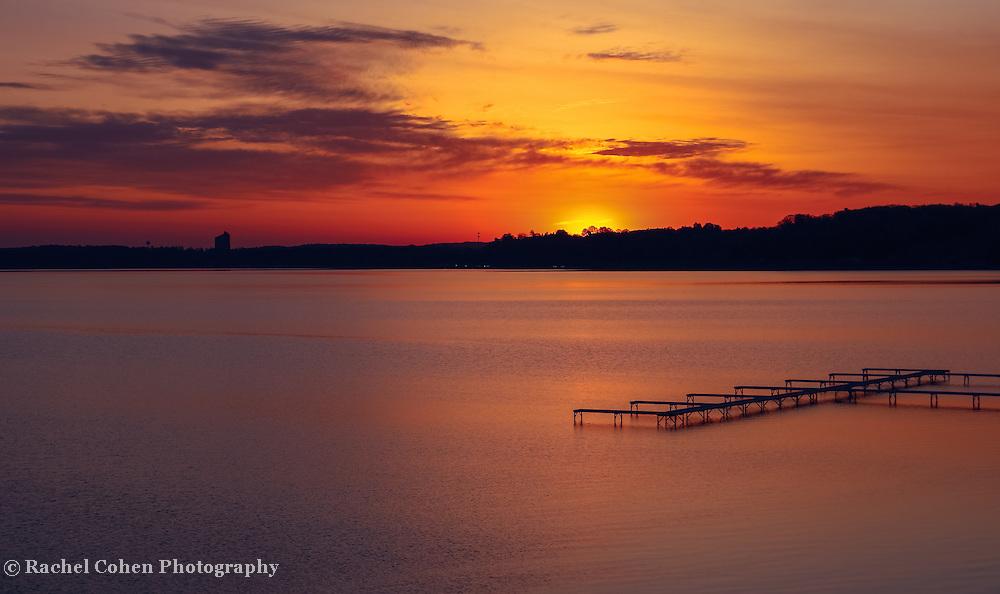 &quot;Sugar Beach Sunrise&quot;<br /> <br /> A wonderful and peaceful sunrise from Sugar Beach Resort on Grand Traverse Bay in Traverse City Michigan!