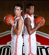 9/26/13 2:29:30 PM -- Columbus, OH, U.S.A  -- Lenzelle Smith jr and Aaron Craft will be on the cover of one of our Sports Weekly season preview regional covers. --   Photo by USA TODAY  Sports Images, Gannett