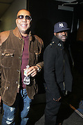 l to r: Dice and Black Thought at The OkayPlayer Hoiliday Jammy presented by OkayPlayer and Frank Magazine held at BB Kings on December 18, 2008 in New York City..The Legendary Roots Crew gives back to fans with All-Star line-up of Special Guests to celebrate upcoming Holiday Season.