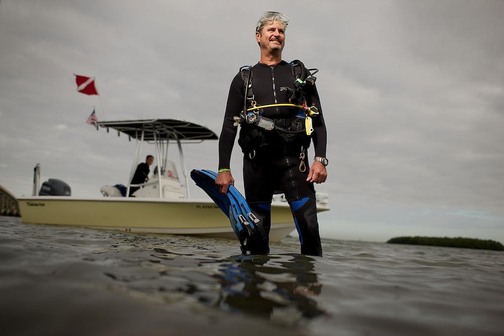 Bob Wasno, Vestor Marine Center FGCU, Bonita Springs, FL.<br /> Photo By Brian Tietz
