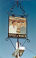 Pub Sign, Two Brewers or Style & Winch, Shoreham, Kent, Britain