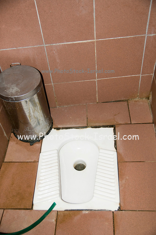 Turkey, Antalya, Squat toilet