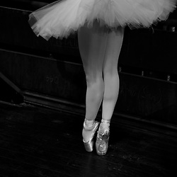 A ballerina of Vietnam National Opera&Ballet warms up backstage before a performance of Swan Lake at the Hanoi Opera House, Vietnam, Southeast Asia