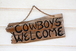 cowboy welcome home sign