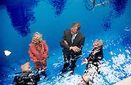 Koning Willem-Alexander tijdens de opening van Museum Voorlinden. Dit nieuwe museum voor moderne en