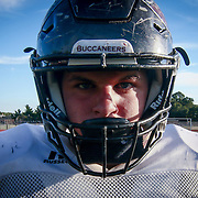 Caravel Academy Long snapper Jake Reed (No. 68) poses for a photo Thursday, Sept. 15, 2016, during practice at Bob People's Stadium on the campus of Caravel Academy in Bear.
