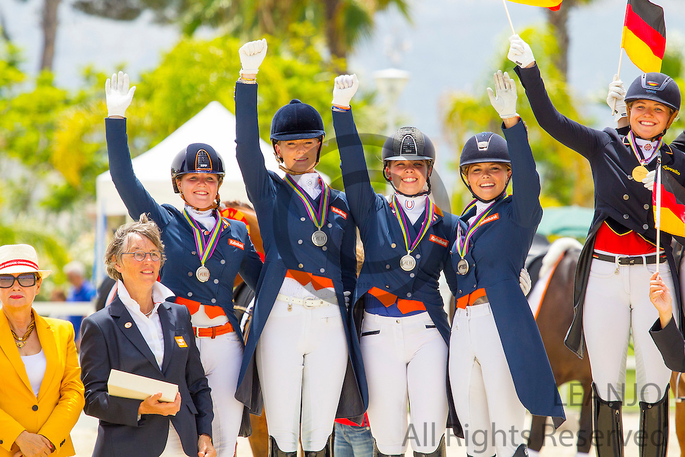 Podium Young Riders<br /> European Championships Dressage 2016<br /> &copy; DigiShots
