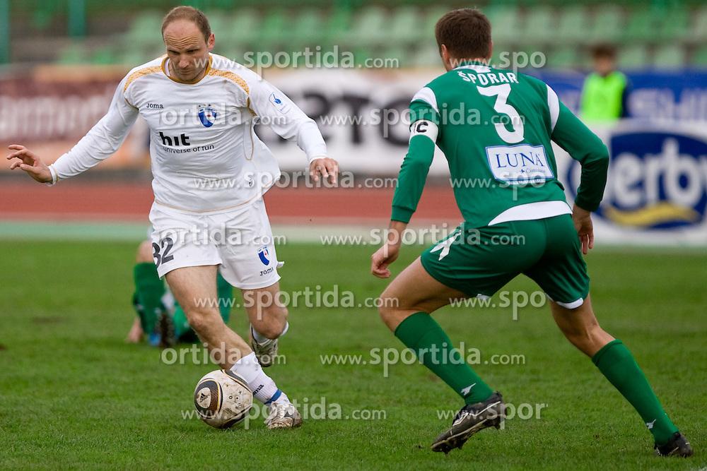 Milan Osterc of Gorica at 29th Round of 1st Slovenian football league match between NK Olimpija Ljubljana and HIT Gorica, on April 3, 2010, in ZAK stadium, Ljubljana, Slovenia. Olimpija defeated HIT Gorica 5-0.  (Photo by Vid Ponikvar / Sportida)