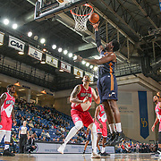 Salt Lake City Stars Center HENRY SIMS (41) drives to the basket as Delaware 87ers Forward CARLOS LOPEZ-SOSA (4) defends in the second half of an NBA D-league regular season game between the Delaware 87ers and the Salt Lake City Stars (Utah Jazz) Friday, March 17, 2017 at The Bob Carpenter Sports Convocation Center in Newark, DEL