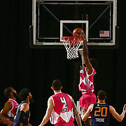 Delaware 87ers Forward ROSCOE SMITH (31) drives towards the basket and dunks the ball in the second half of an NBA D-league regular season game between the Delaware 87ers and the Salt Lake City Stars (Utah Jazz) Friday, March 17, 2017 at The Bob Carpenter Sports Convocation Center in Newark, DEL