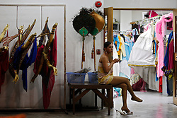 A performer waits backstage during the Tiffany Show in Pattaya, Thailand 08 April 2009. The Tiffany show is one of the biggest transvestite cabaret show in Thailand with about 80 to 100 performers performing three shows every night for the past 33 years. Pattaya, a tourist hotspot known as a sex and entertainment city will host the ASEAN plus three and six summits including leaders of China, Japan, South Korea, India, Australia, and New Zealand, with South East Asian leaders from 10 to 12 April.