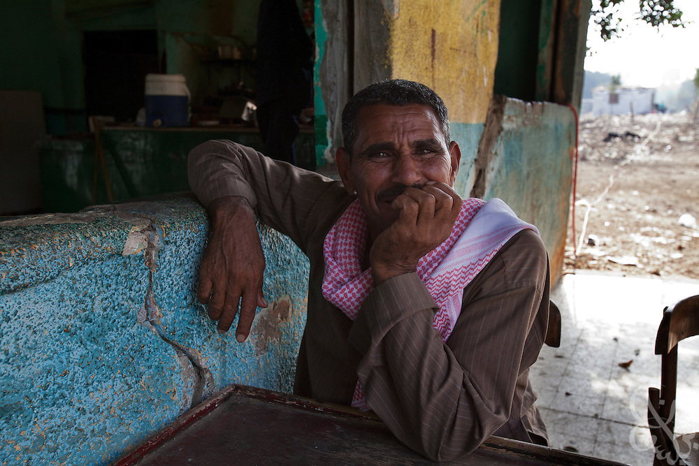 Egyptian hospital worker Hassan Hasinoun, age 48, poses for a portrait Octobr 27, 2011 in the village of Warwara, Egypt, about 50 kilometers north of Cairo. (Photo by Scott Nelson)