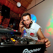 Photo © Joel Chant .DJ Alex Jones, House of Honey Xmas party 2011, London