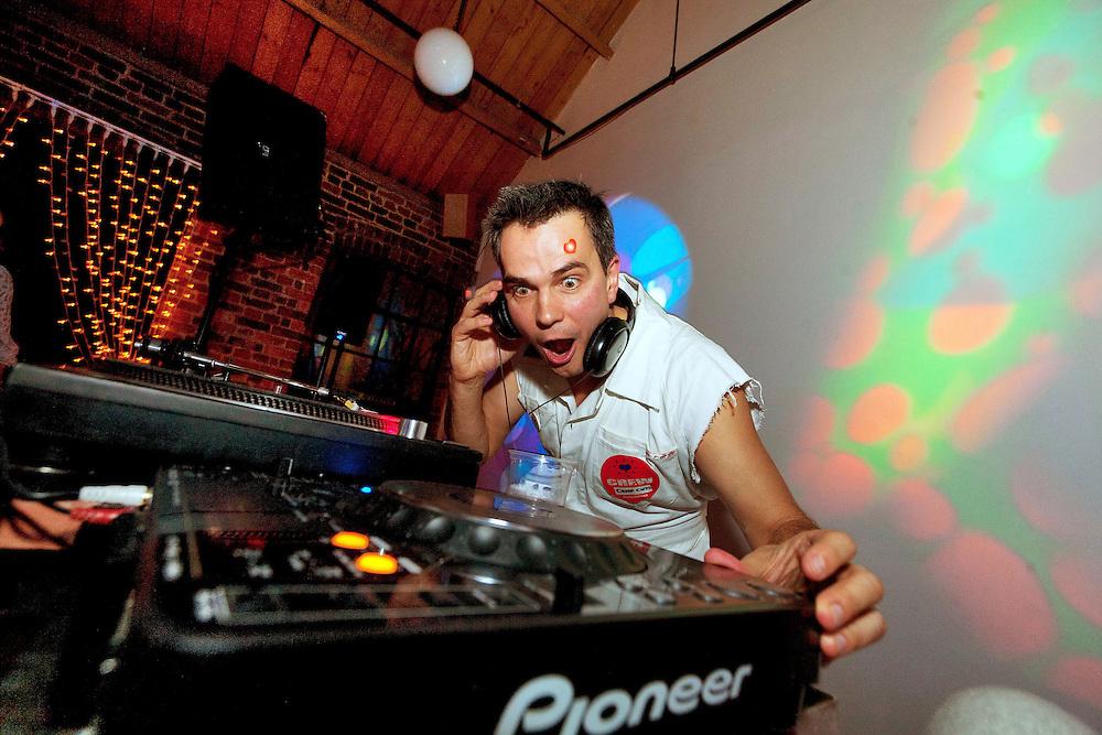 Photo © Joel Chant .DJ Alex Jones, House of Honey Xmas party 2011, London